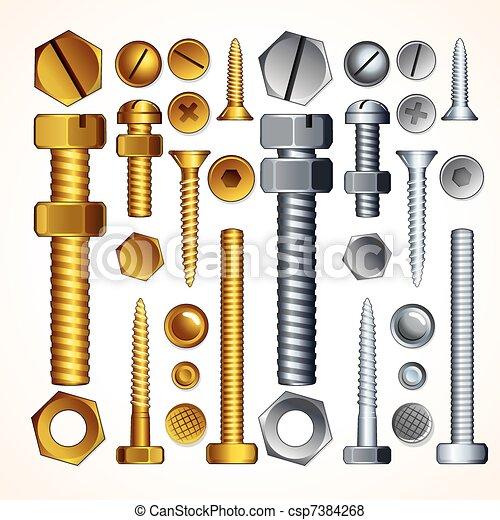 Screws, Bolts and Rivets - csp7384268