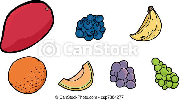 Assorted Fruits - csp7384277