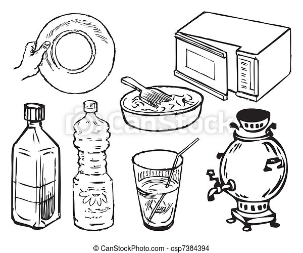 Kitchen Equipment Drawing Kitchen Supplies Csp7384394