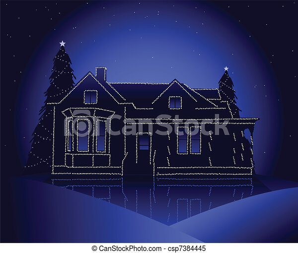 Christmas house Illustrations and Clip Art. 11,947 Christmas house ...