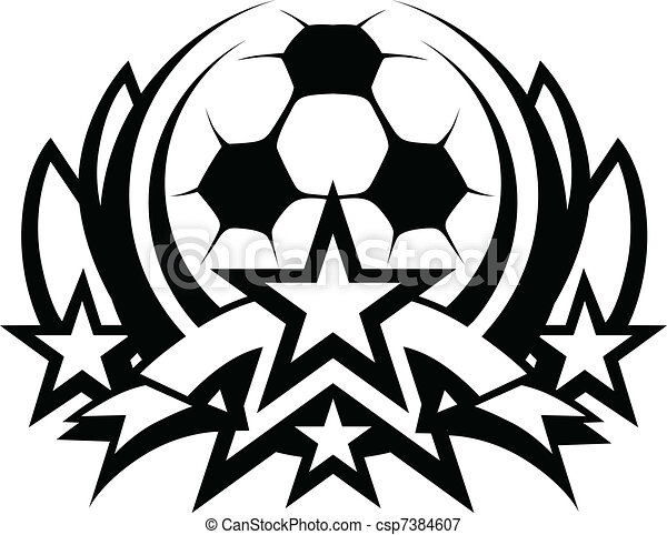 Soccer Ball Vector Graphic Template - csp7384607