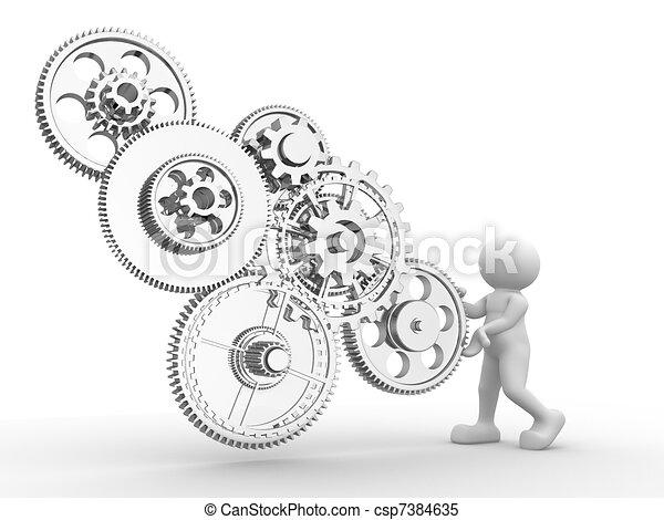 Gear mechanism - csp7384635