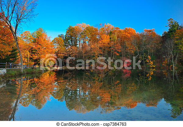 Peak Fall foliage - csp7384763