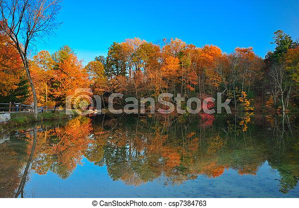Peak Fall foliage - csp7384763