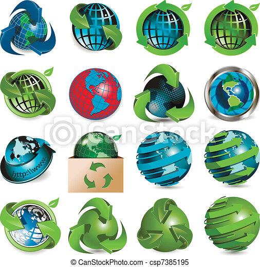 icons globe - csp7385195