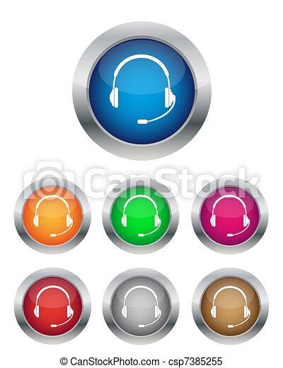 Call center buttons - csp7385255
