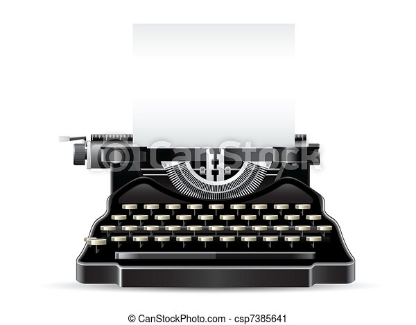 Antique Typewriter - csp7385641