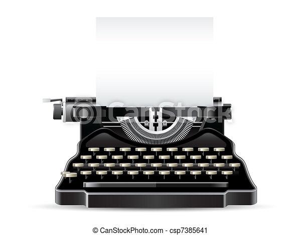 Antique Typewriter - csp7385641
