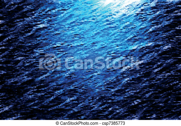 Light throw ocean depths - csp7385773