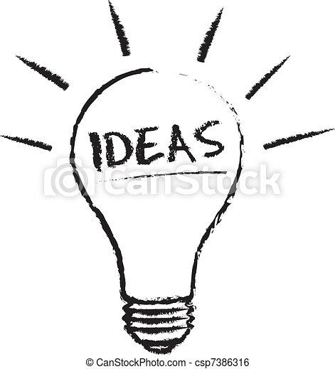 clip art de vectores de luz idea bombilla idea light bulb tiza ilustraci n. Black Bedroom Furniture Sets. Home Design Ideas