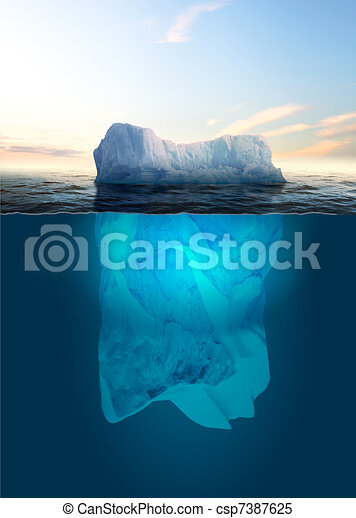 Melting Iceberg - csp7387625