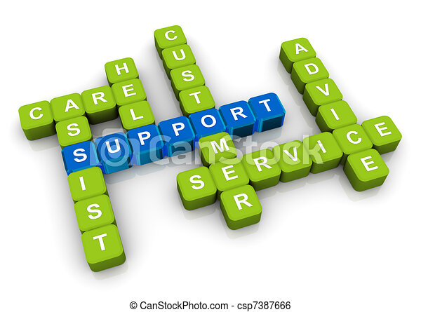 Crossword of support - csp7387666