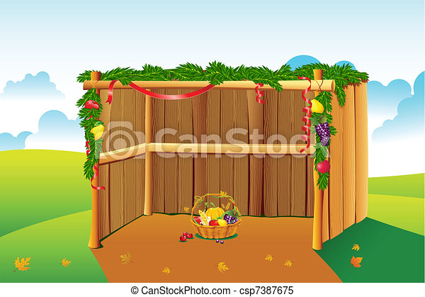 Decorated Sukkah - csp7387675