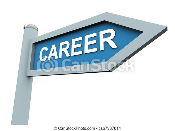3d career sign  - csp7387814