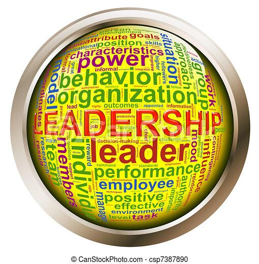 Shiny button - Leadership tags - csp7387890