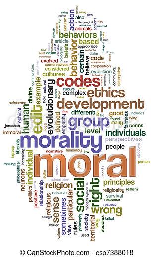 Moral wordcloud - csp7388018