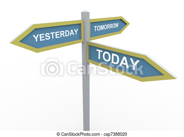 Tomorrow, yesterday and today - csp7388020