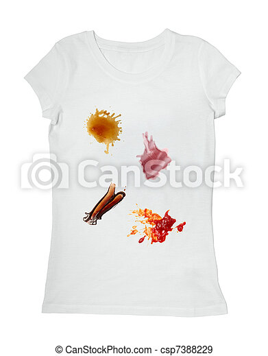 Stock photographs of ketchup chocolate coffee wine food for Wine stain white shirt