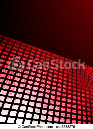 Red waveform vector background. EPS 8 - csp7388276