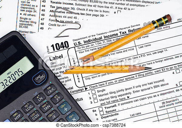 Frustration of filing taxes - csp7388724