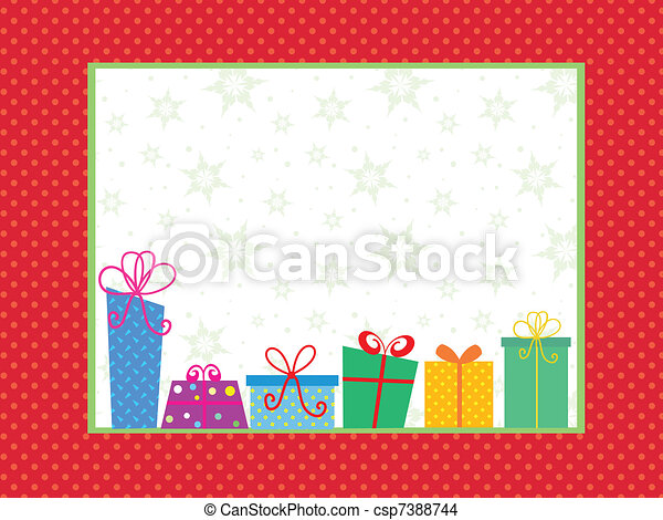 Christmas gift background - csp7388744