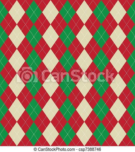 Christmas argyle pattern - csp7388746