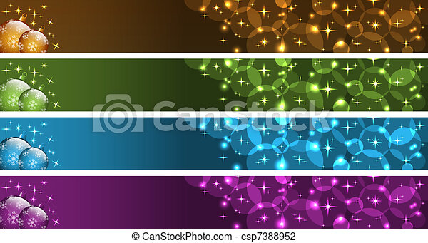 Christmas banners - csp7388952