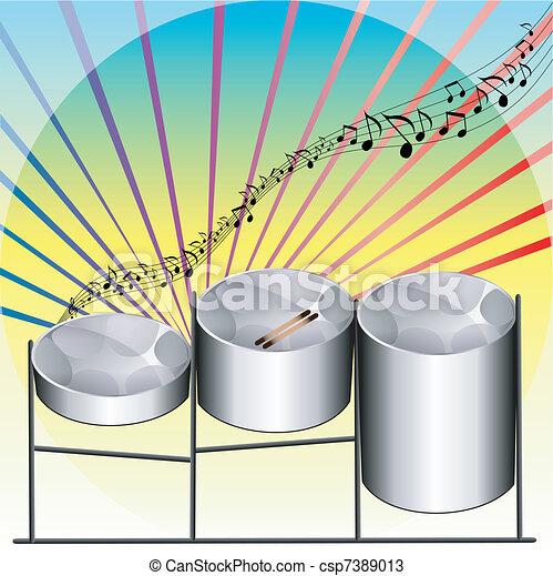 Steel Pan Drums - csp7389013