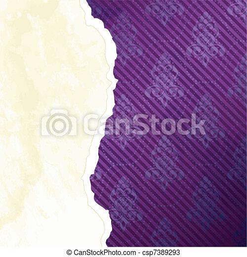 Vibrant Victorian wallpaper banner - csp7389293