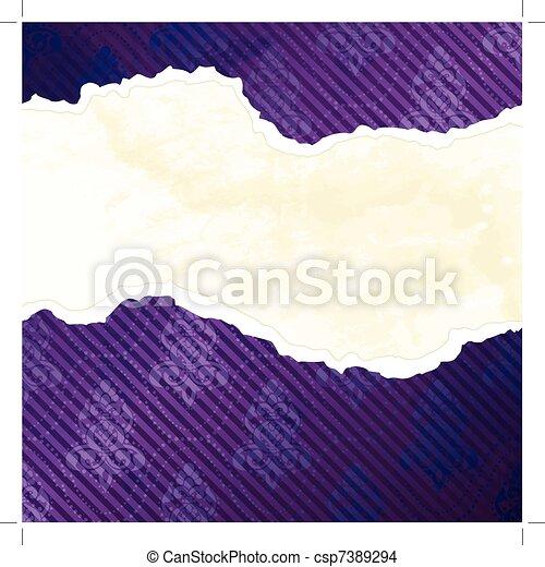 Vibrant Victorian wallpaper banner - csp7389294