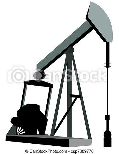 Oil Derrick Clip Art or Logo - csp7389778