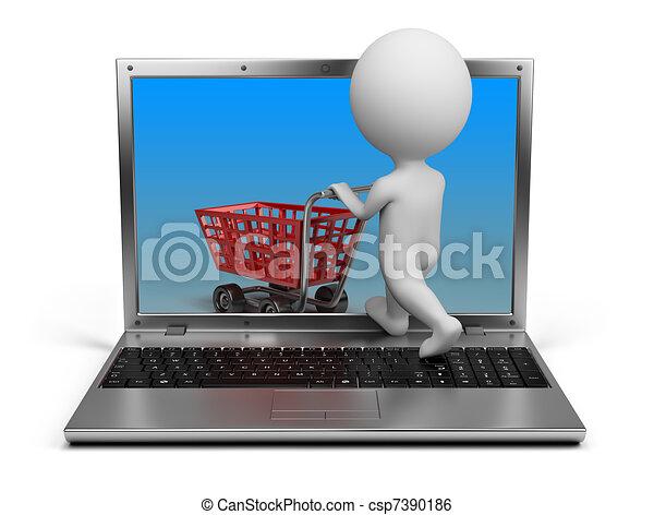 3d small people - internet shop - csp7390186
