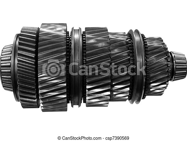 automobile gear on isolated - csp7390569