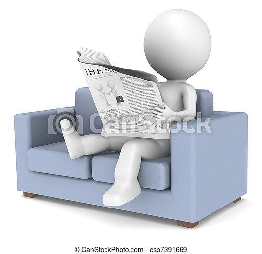 Relaxing News - csp7391669