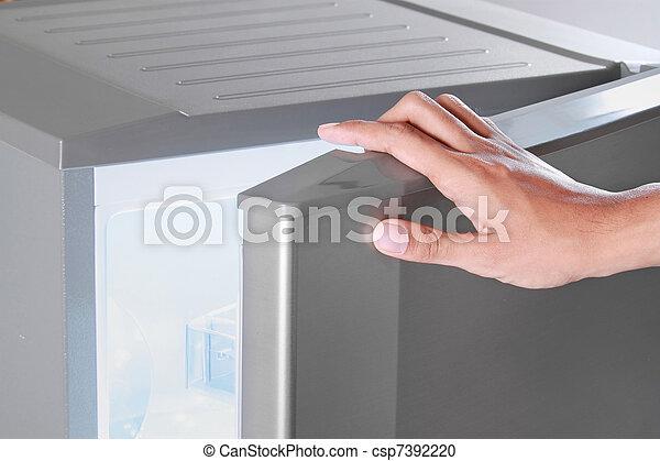 hand opening refrigerator - csp7392220