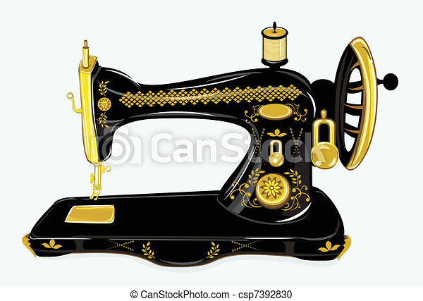 Old sewing machine - csp7392830