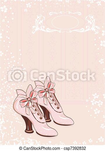 A pair of vintage woman - csp7392832
