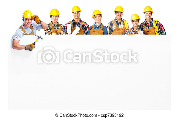 contractors workers people - csp7393192