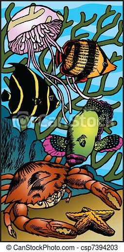 Sea Creatures - csp7394203
