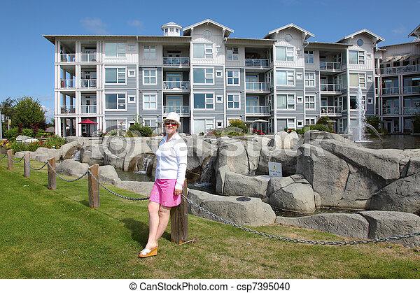 Retirement community in Richmond BC Canada. - csp7395040