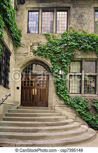 bâtiment, porte, historique - csp7395149