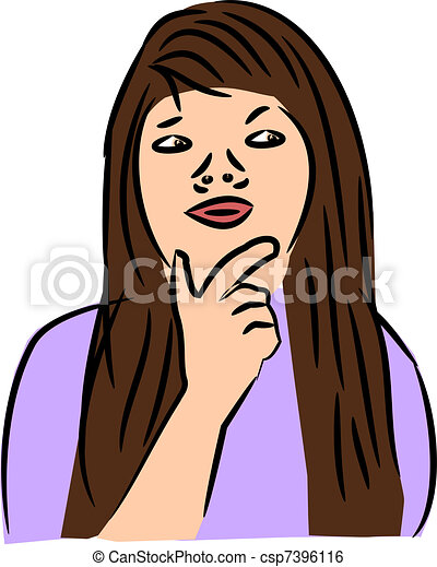 Woman thinking Illustrations and Clip Art. 12,075 Woman thinking ...