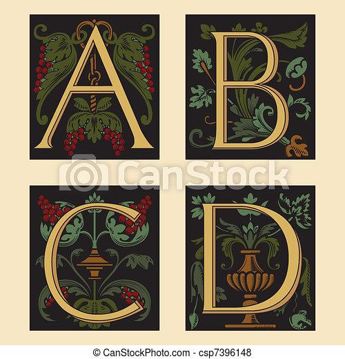 Sixteenth-Century alphabet - csp7396148