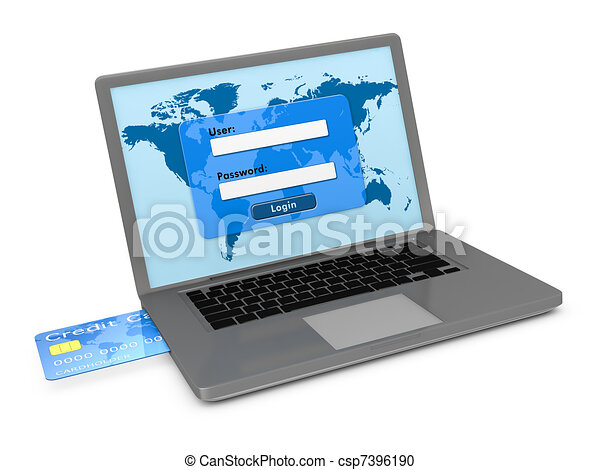 online banking services - csp7396190
