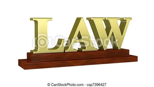 law concept - csp7396427