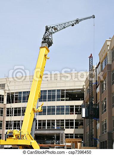 commercial building under construction - csp7396450