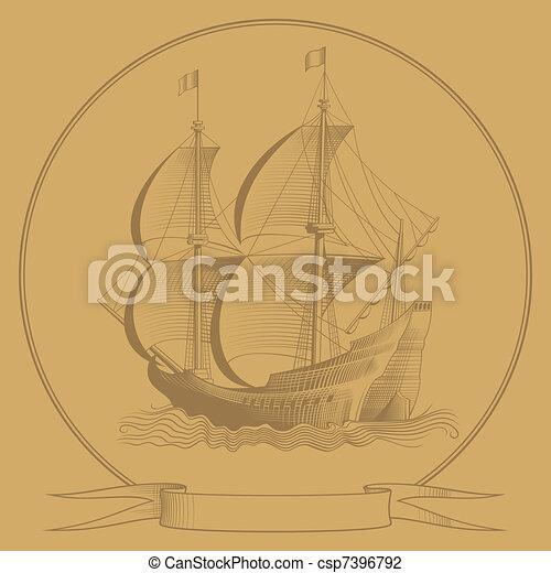 sailing ship - csp7396792