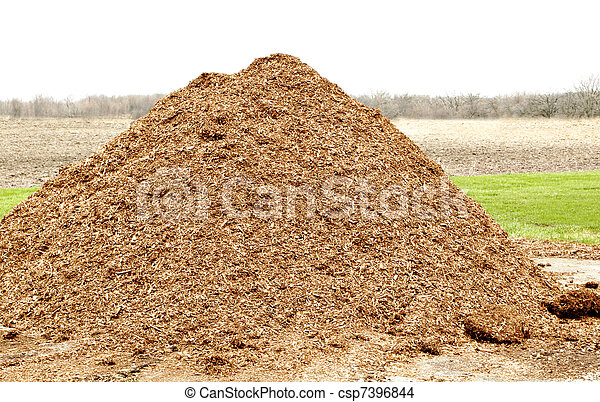 pile of natural mulch - csp7396844