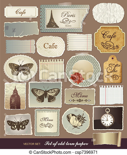 Vector set vintage design elements - csp7396971