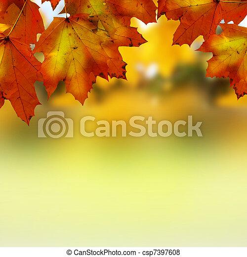otoño, hojas - csp7397608